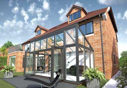 Veranda moderna vetro e alluminio