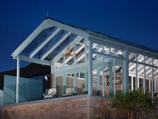 Progetto veranda per un bar di lusso