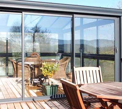 Veranda alluminio vetro chiusura scorrevole a Como
