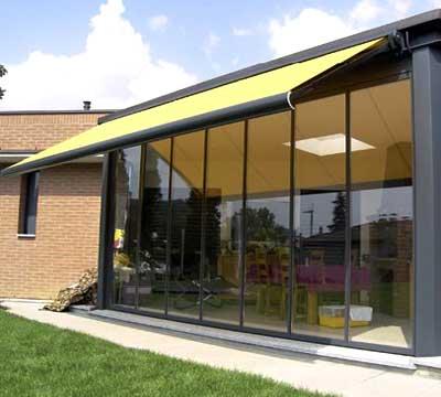 Veranda alluminio vetro chiusura scorrevole a Lecco