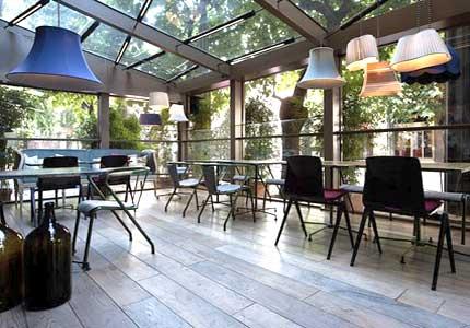 Veranda realizzata per un ristorante in provincia di Milano